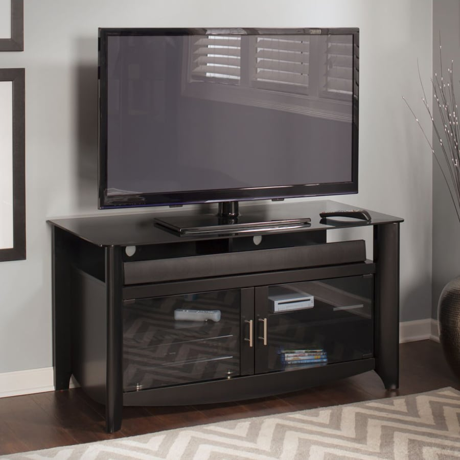 Bush Furniture Aero Classic Black Rectangular TV Cabinet
