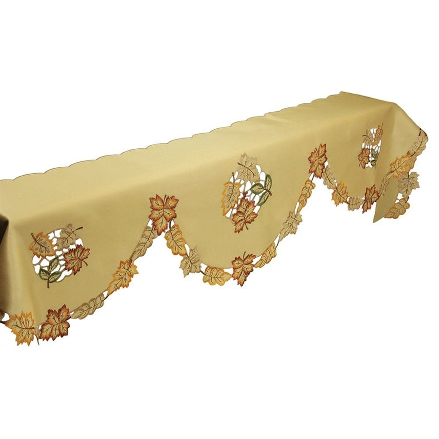 XIA Home Fashions Fabric Leaves Mantel Scarf