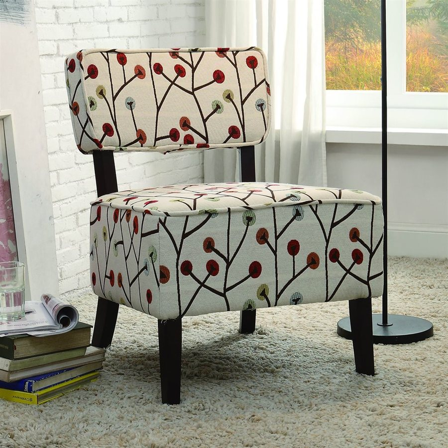 Homelegance Orson Casual Muti-Color Poppies Cotton Accent Chair
