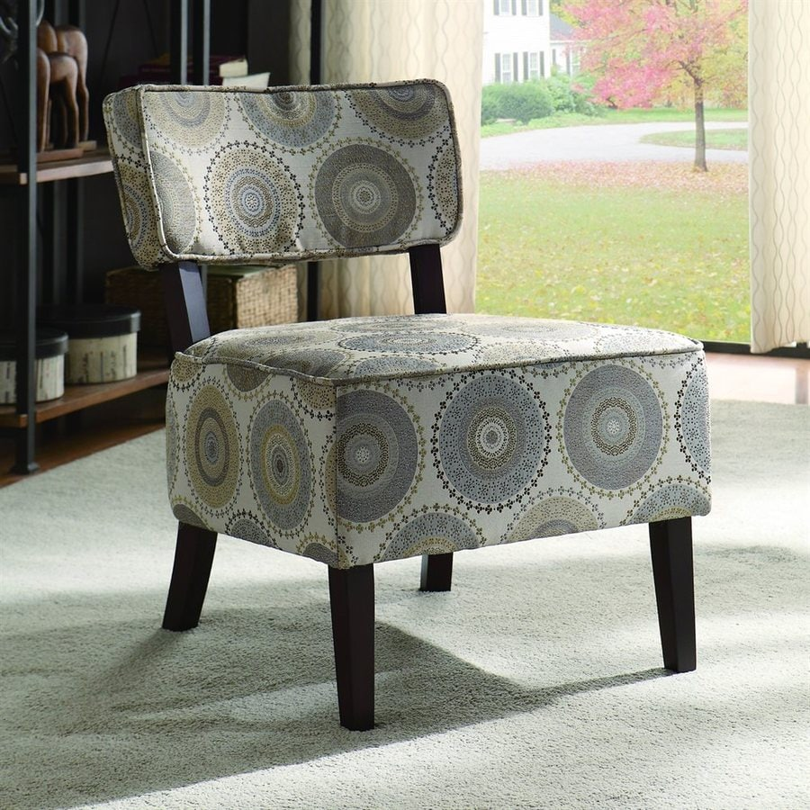 Homelegance Orson Casual Gray Medallion Cotton Accent Chair