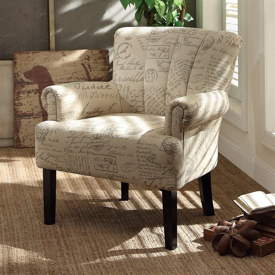 Homelegance Langdale Casual French Note Cotton Accent Chair