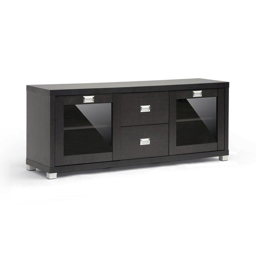 Baxton Studio Foley Espresso Rectangular TV Cabinet