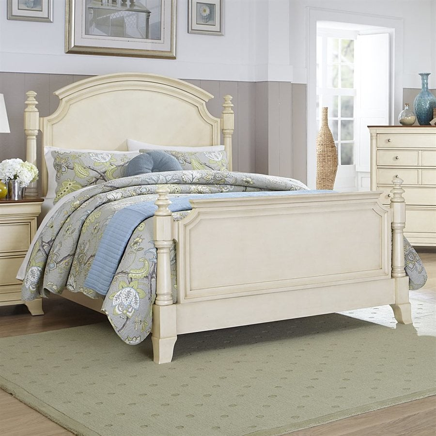 Homelegance Inglewood II Antique White King 4-Poster Bed