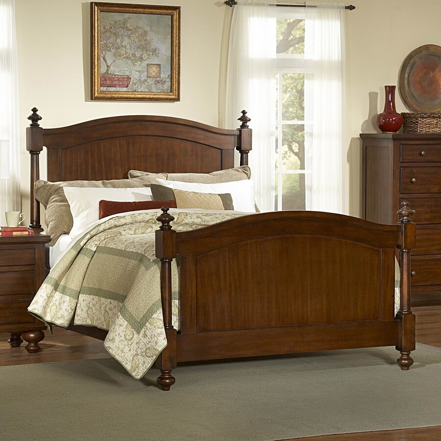 Homelegance Aris Brown Cherry California King 4-Poster Bed