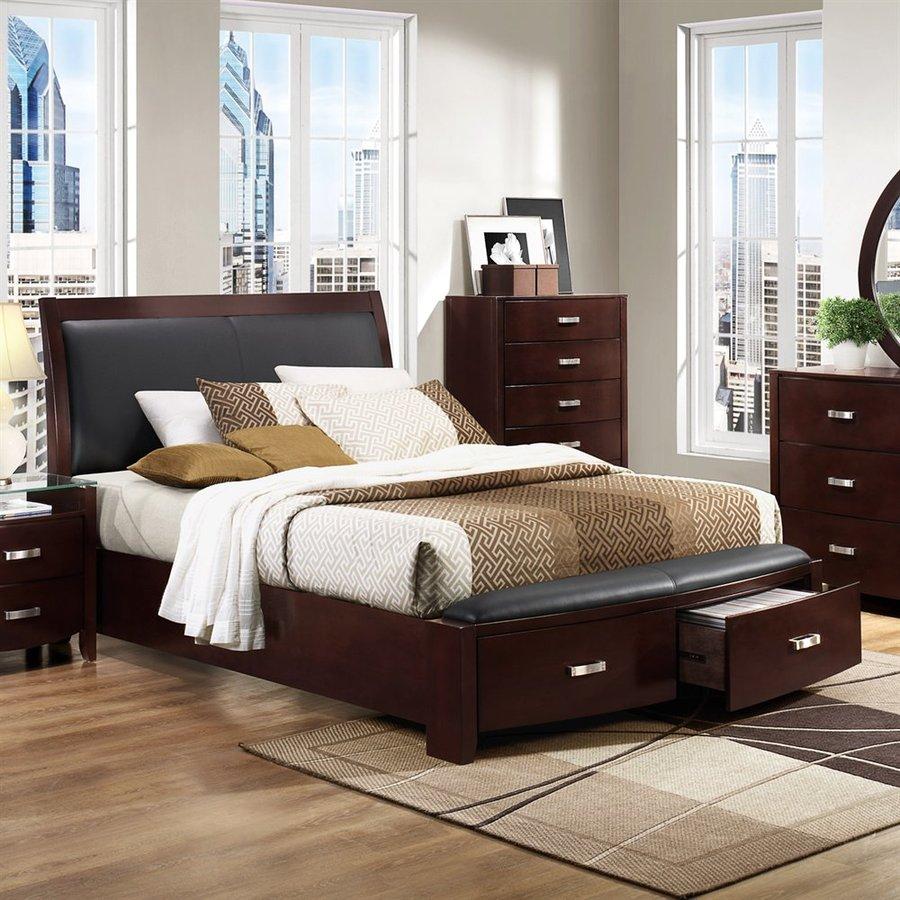 Homelegance Lyric Dark Espresso California King Sleigh Bed with Integrated Storage