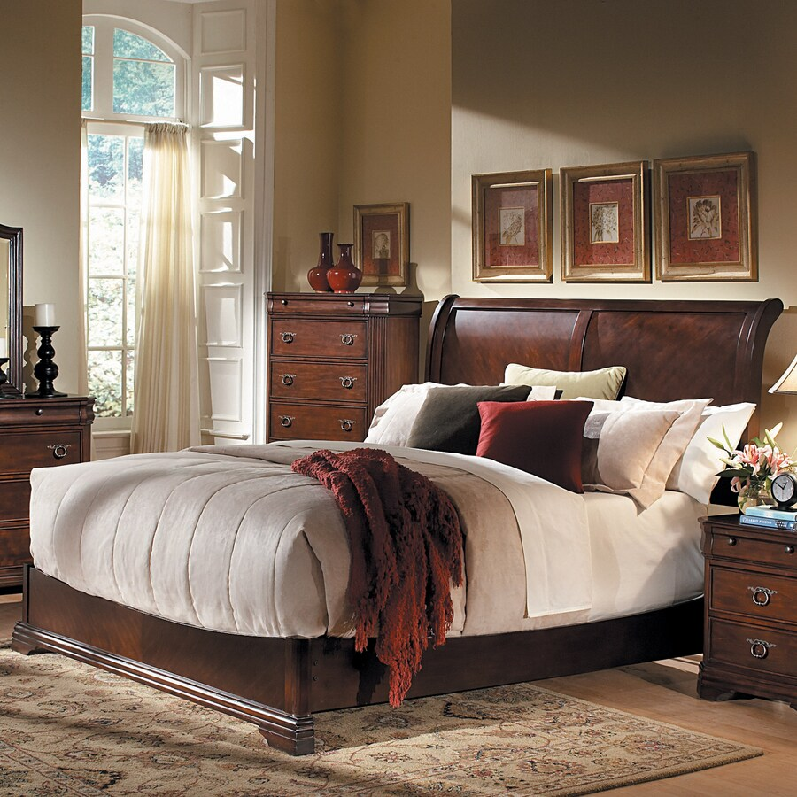 Homelegance Karla Cherry Queen Sleigh Bed