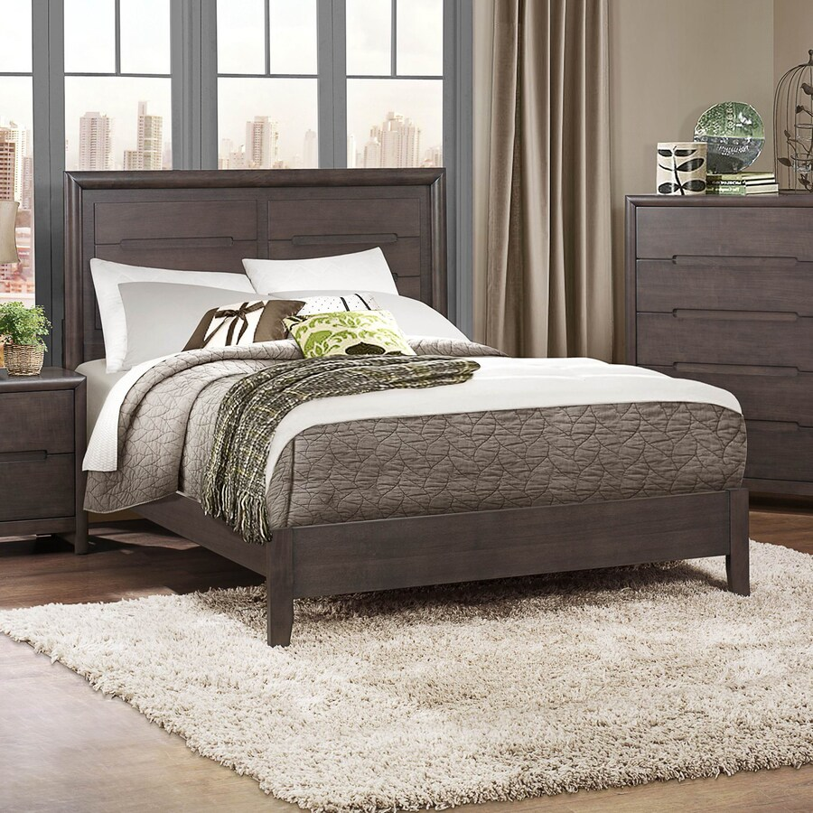 Homelegance Lavinia Weathered Grey Queen Panel Bed