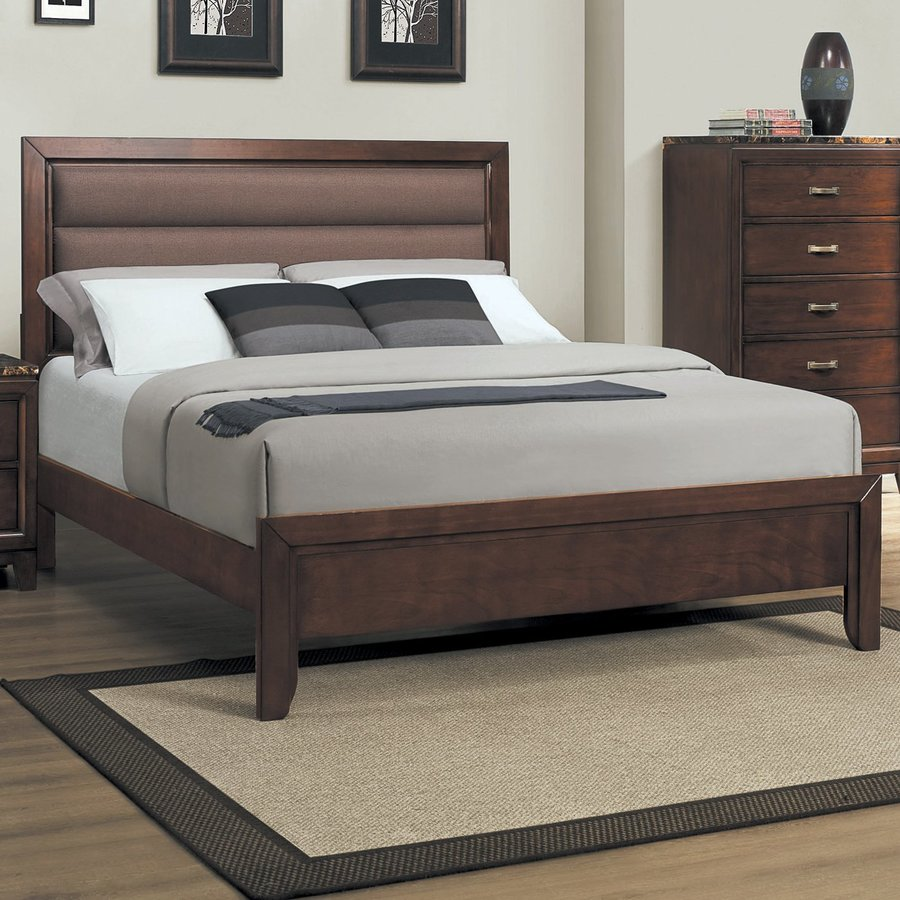 Homelegance Ottowa Brown-Grey Full Upholstered Bed