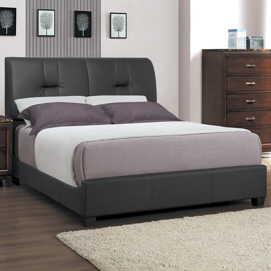 Homelegance Ottowa Dark Brown Queen Upholstered Bed