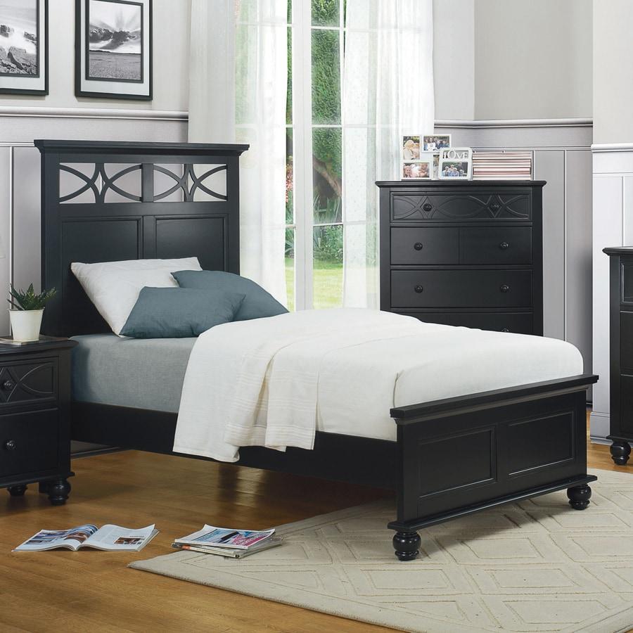 Homelegance Sanibel Black Twin Panel Bed