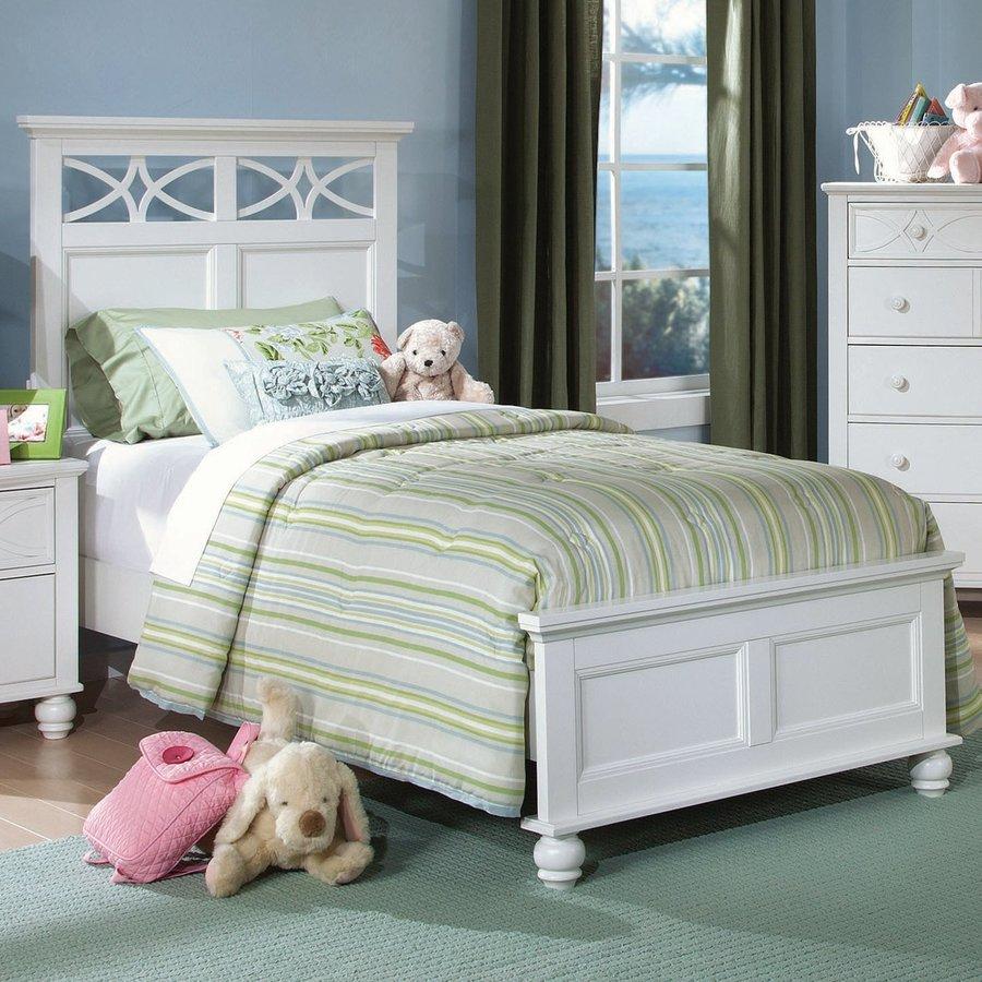 Homelegance Sanibel White Twin Panel Bed