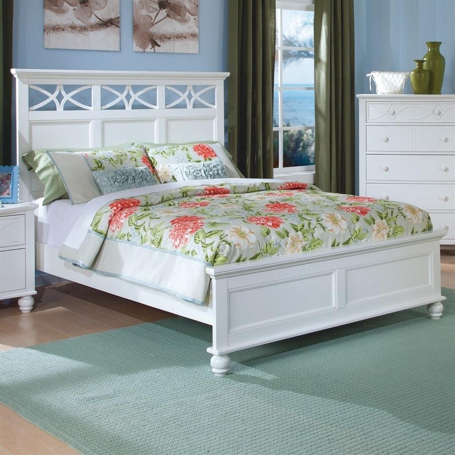 Homelegance Sanibel White Queen Panel Bed