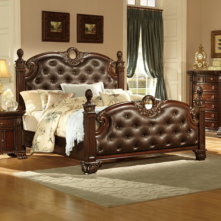 Homelegance Orleans Dark Brown King Upholstered Bed