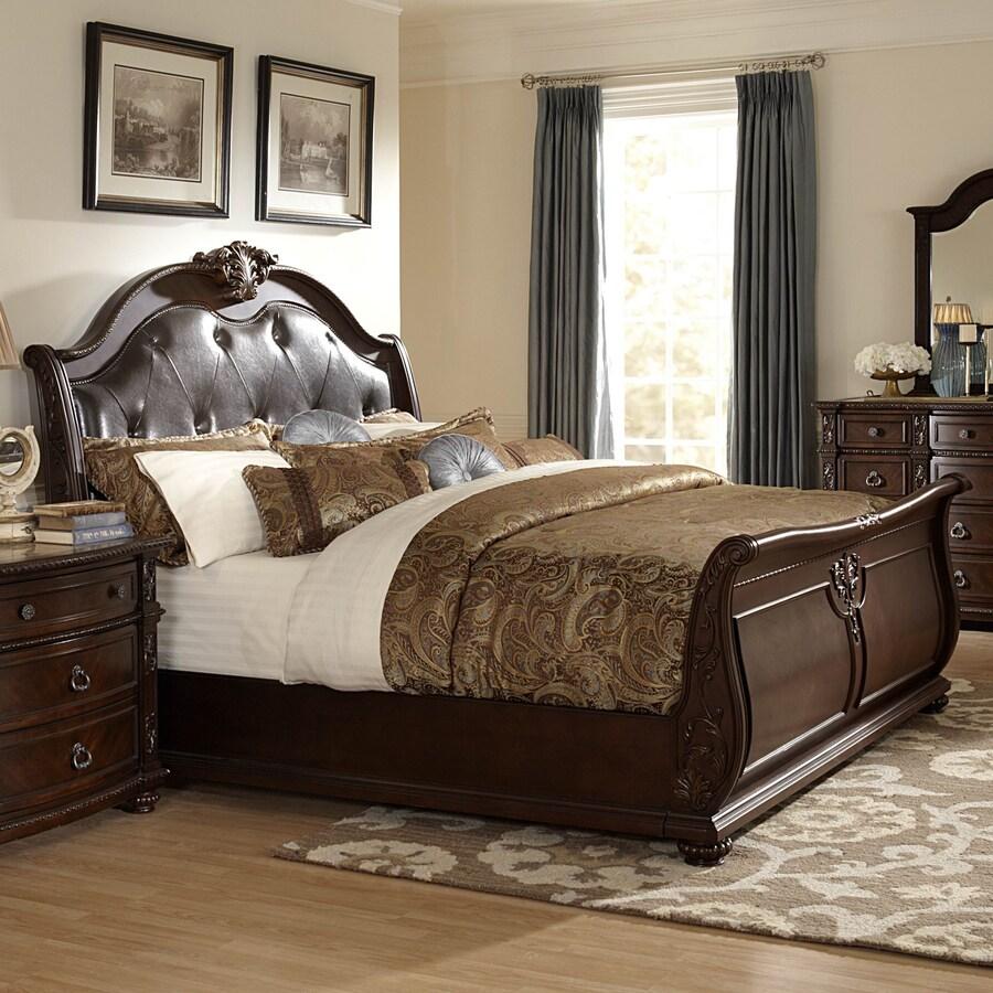 Homelegance Hillcrest Manor Rich Cherry Queen Sleigh Bed