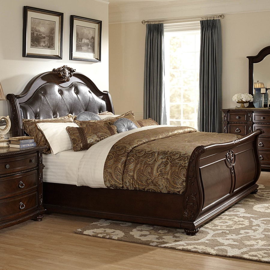 Homelegance Hillcrest Manor Rich Cherry King Sleigh Bed