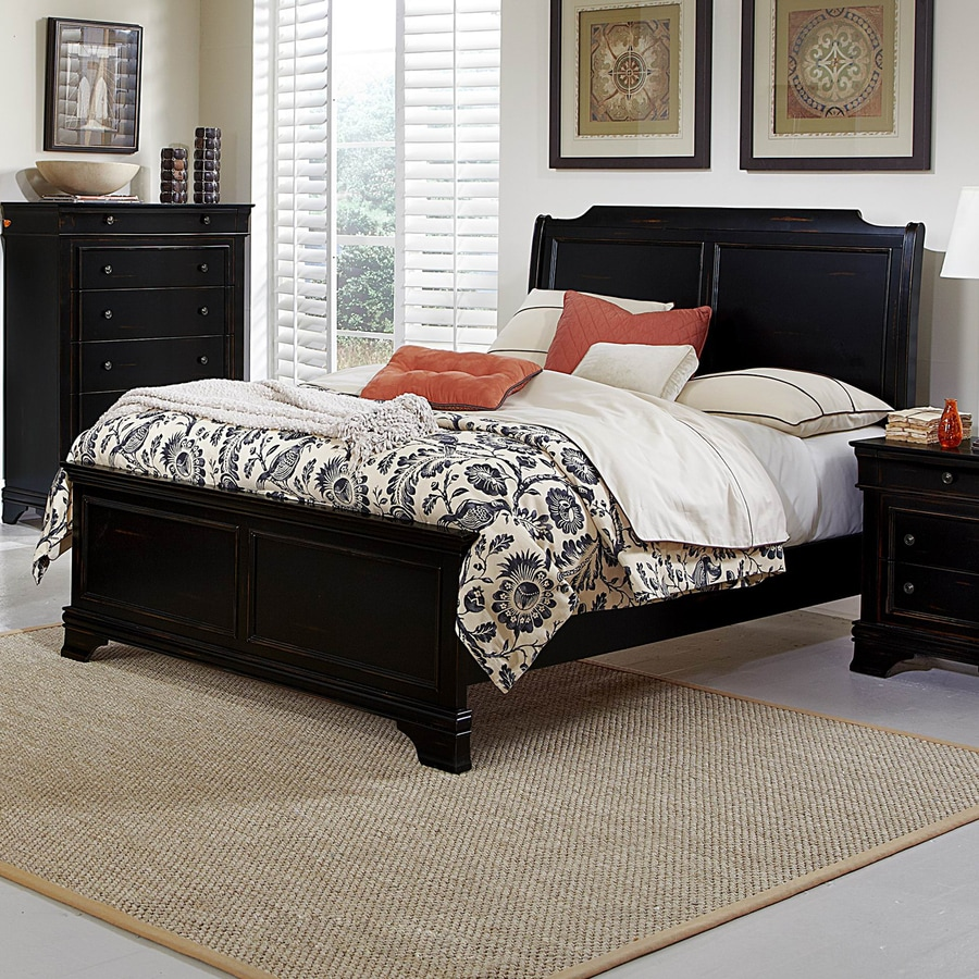 Homelegance Derby Run Black Sand-Through California King Panel Bed