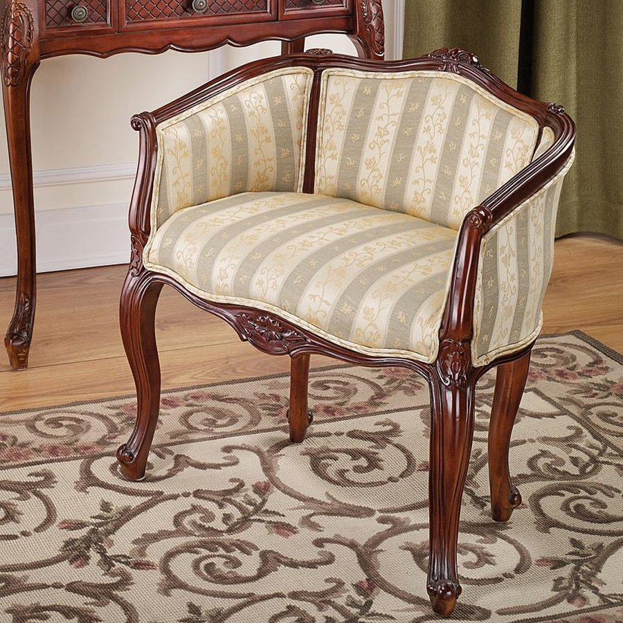 Design Toscano Country Celadon/Pale Gold Accent Chair