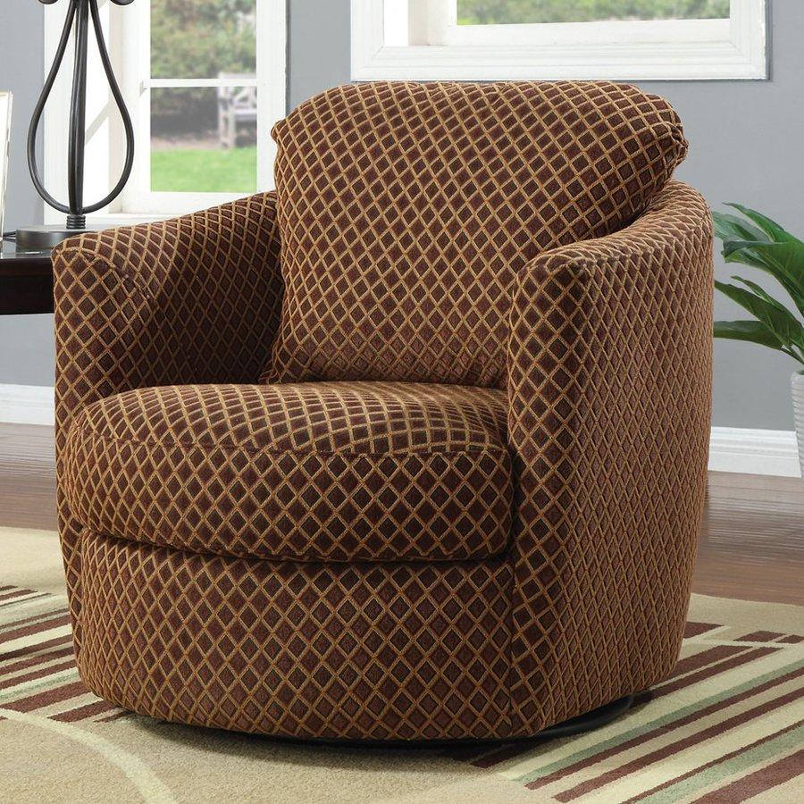 Coaster Fine Furniture Casual Brown Diamond Club Chair