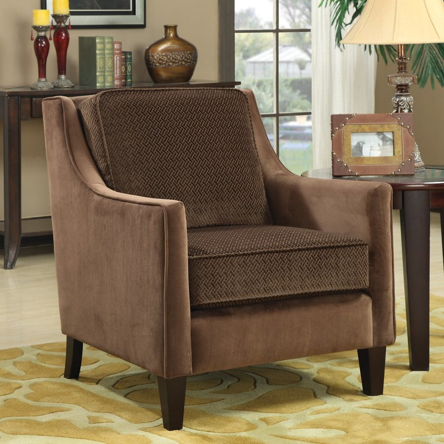 Coaster Fine Furniture Casual Brown Velvet Club Chair