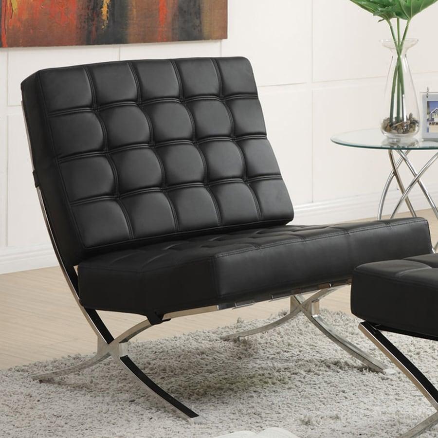 Coaster Fine Furniture Modern Black Vinyl Accent Chair