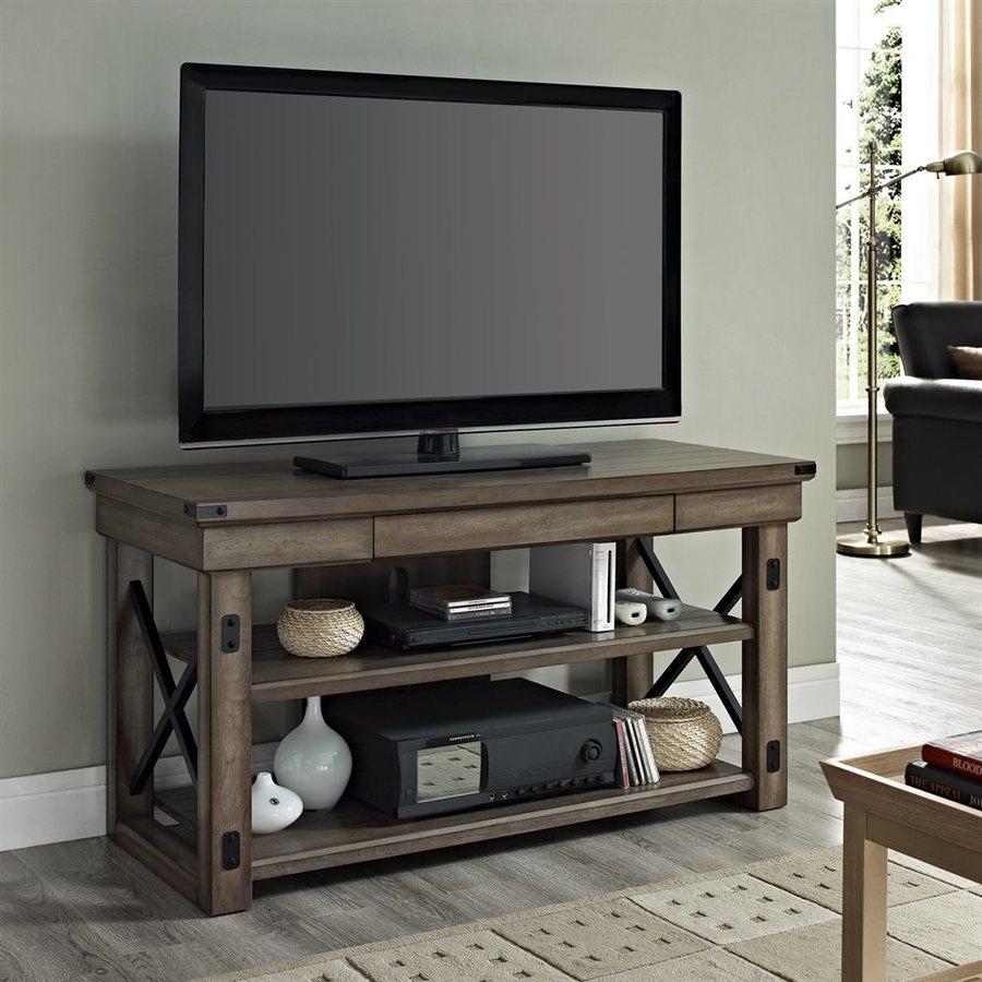 Ameriwood Home Wildwood Rustic Gray Rectangular TV Cabinet
