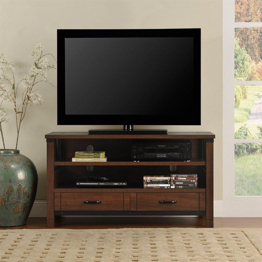 Ameriwood Home Buchannan Dark Cherry Rectangular TV Cabinet