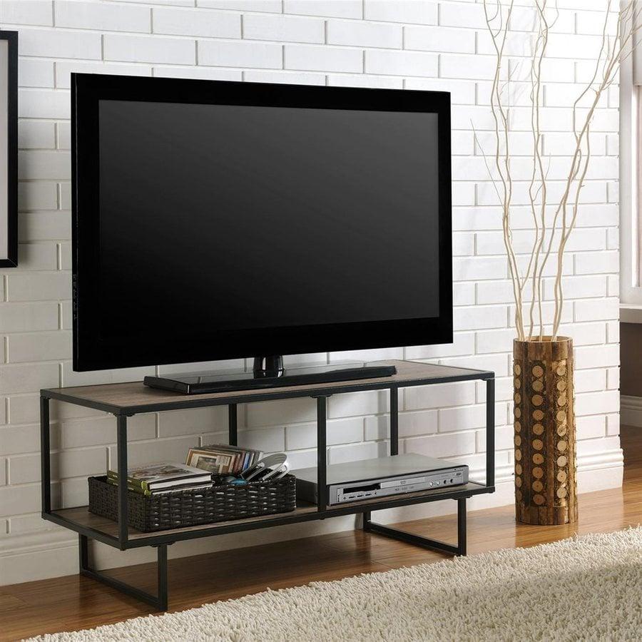 Ameriwood Home Emmett Sonoma Oak/Gunmetal Gray Rectangular TV Cabinet