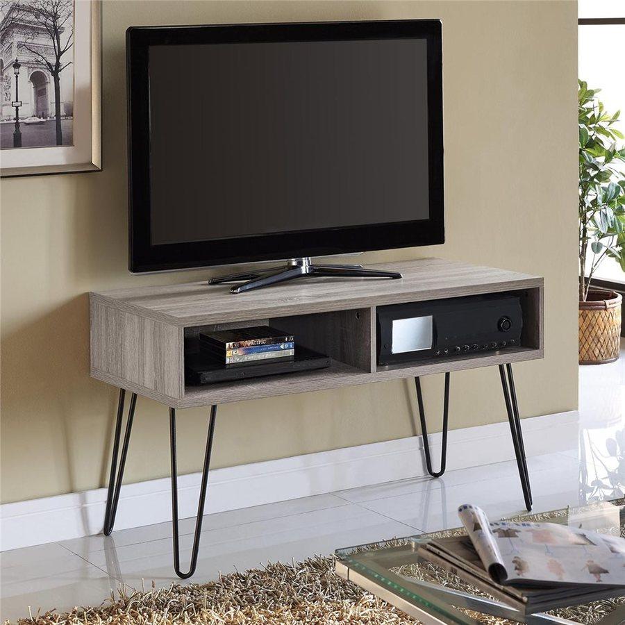 Ameriwood Home Owen Sonoma Oak/Gunmetal Gray Rectangular TV Cabinet
