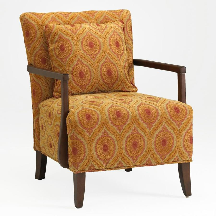 Comfort Pointe Dante Modern Red/Orange/Gold Polyester Blend Accent Chair