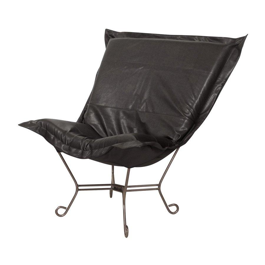 Tyler Dillon Avanti Modern Black Faux Leather Butterfly Chair