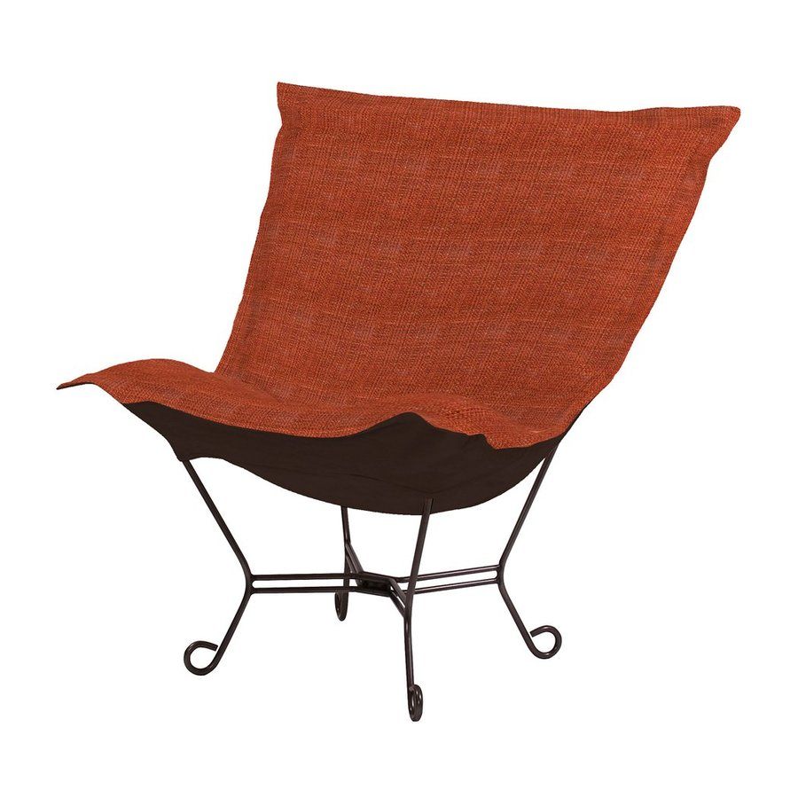 Tyler Dillon Coco Modern Red Polyester Blend Butterfly Chair