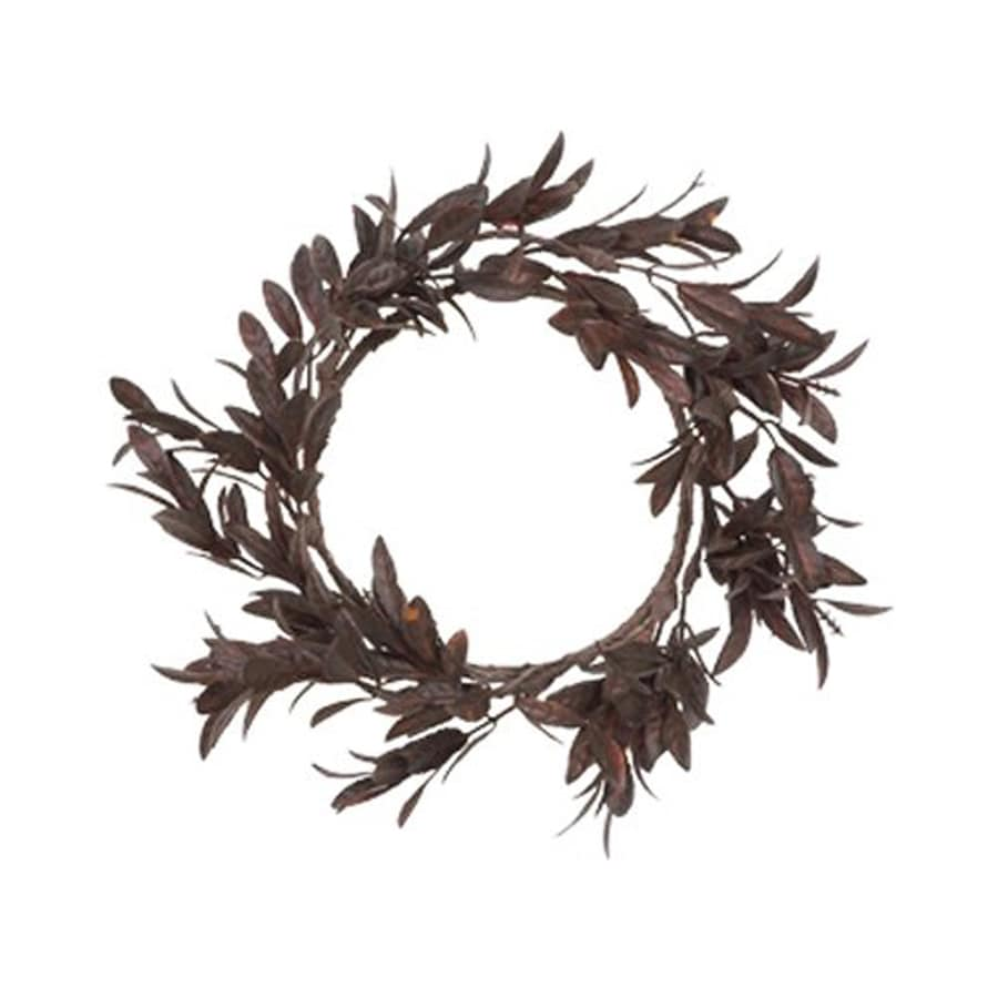 Fantastic Craft Myrtle Leaves Indoor Candle Ring Thanksgiving Decoration