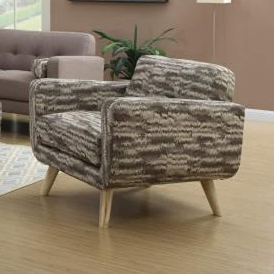 Emerald Home Furnishings Wiley Midcentury Multi Brown Polyester Accent Chair