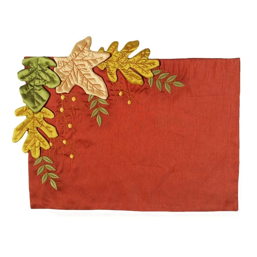 XIA Home Fashions 4-Piece Polyester Leaves Placemat