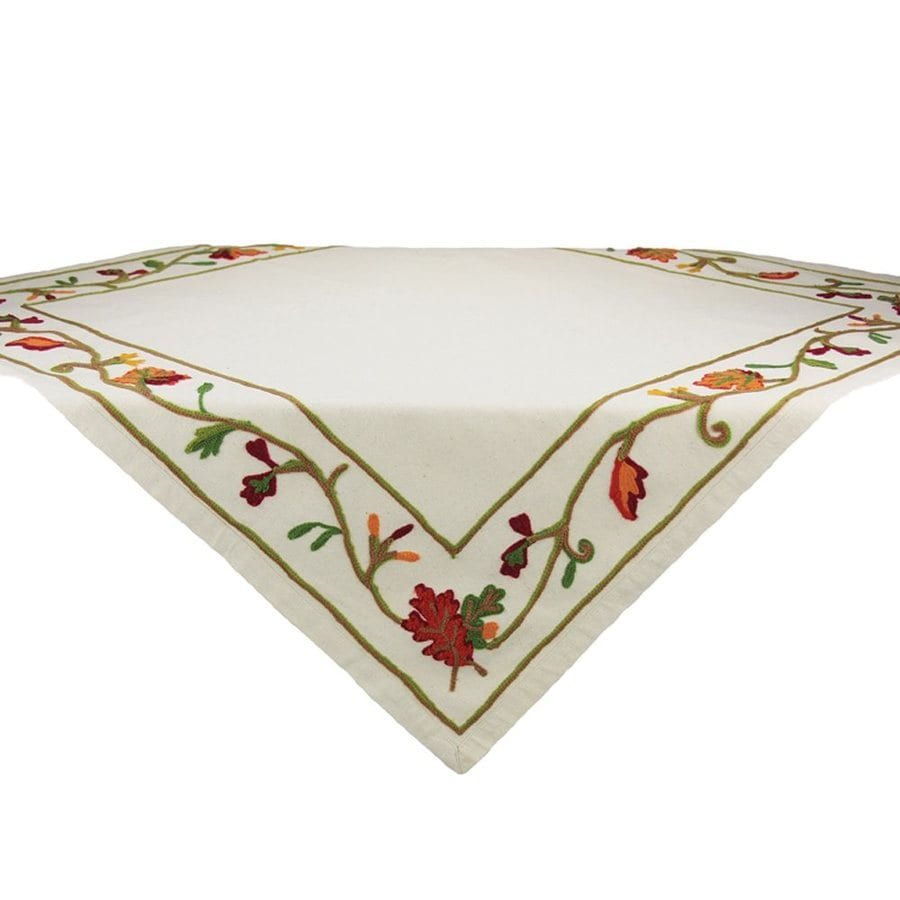 XIA Home Fashions Cotton Leaves Tablecloth