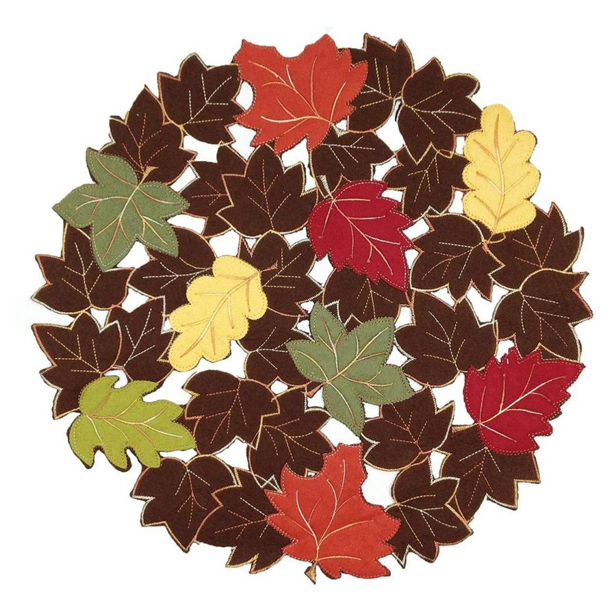 XIA Home Fashions 4-Piece Fabric Leaves Placemat
