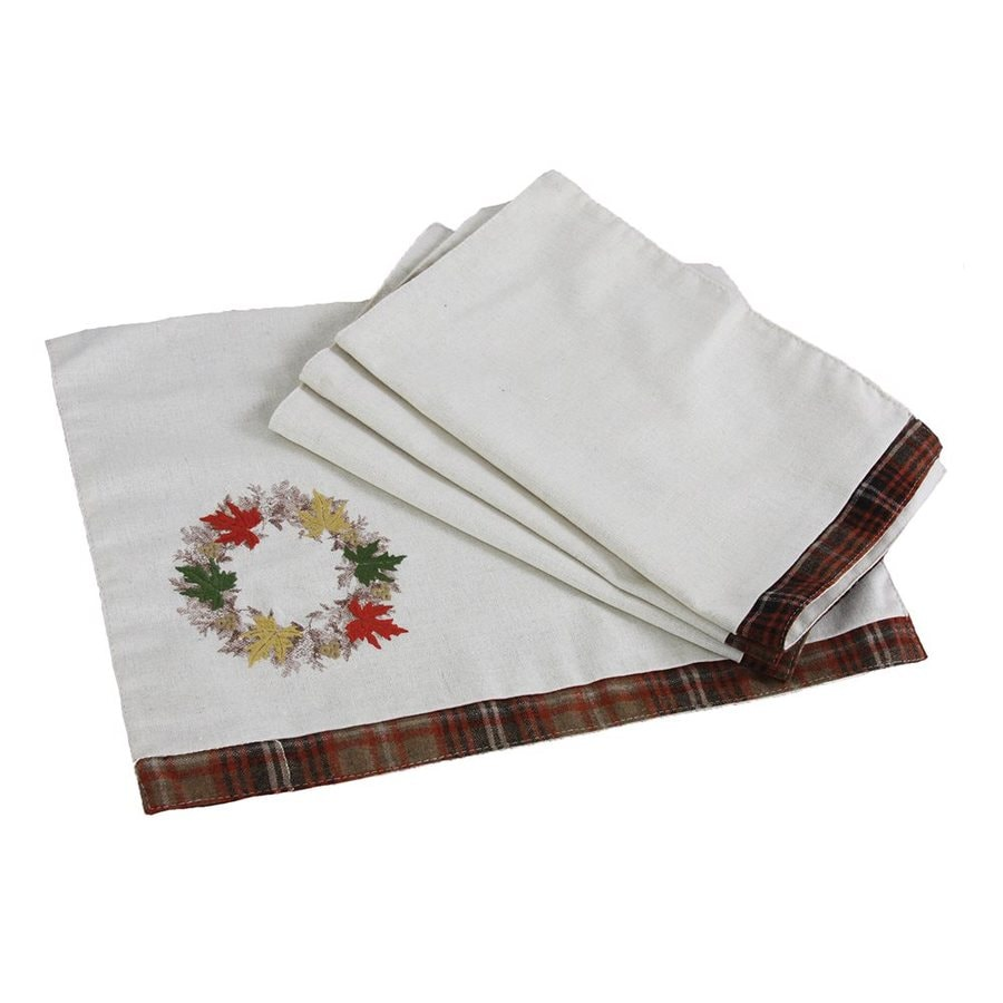 XIA Home Fashions 4-Piece Cotton Leaves Placemat