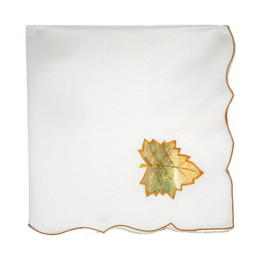 XIA Home Fashions 4-Piece Fabric Leaves Napkin