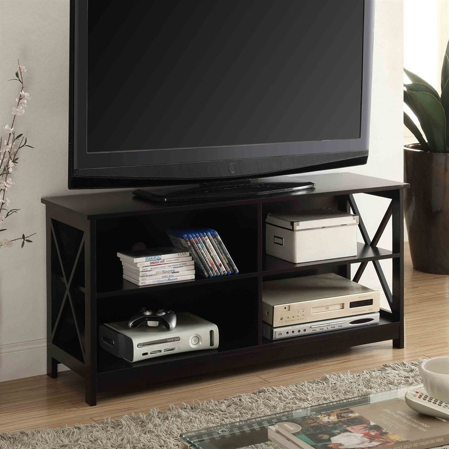Convenience Concepts Oxford Black Rectangular TV Cabinet