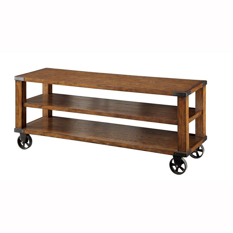 Furniture of America Broadus Dark Oak Rectangular TV Cabinet