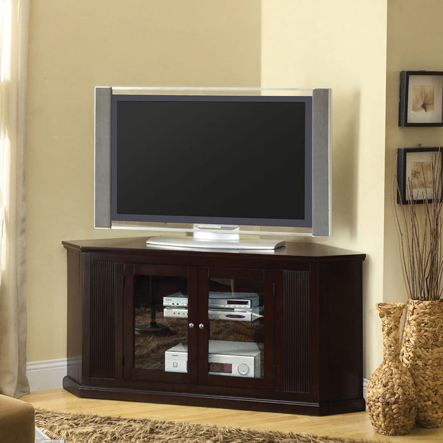 Furniture of America Rockwell Espresso Corner TV Stand