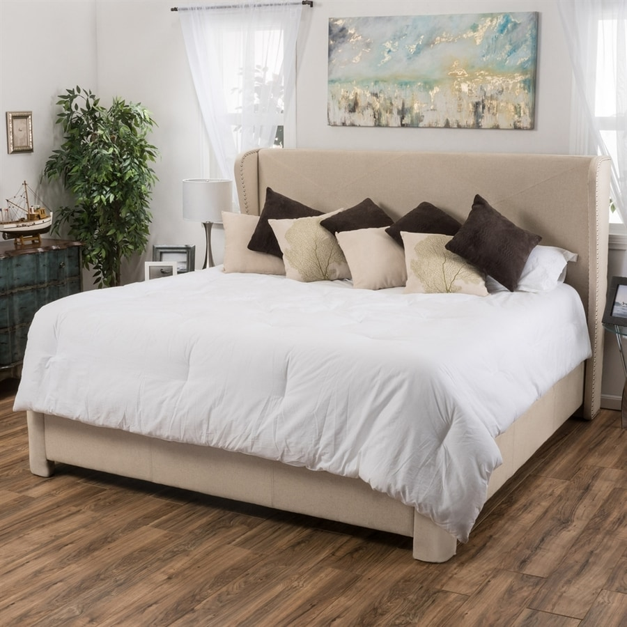 Best Selling Home Decor Waterville Ivory King Upholstered Bed