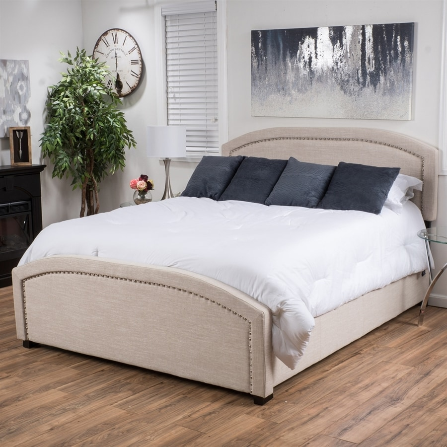 Best Selling Home Decor Conor Light Beige Queen Upholstered Bed