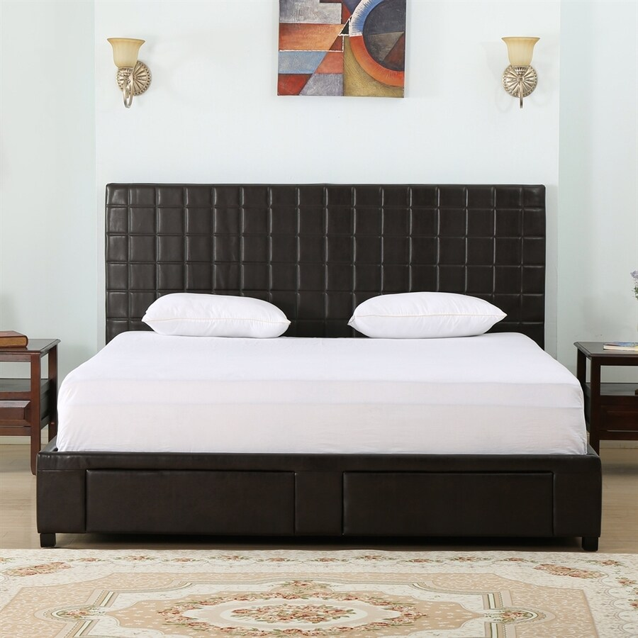 Best Selling Home Decor Ellington Brown Queen Upholstered Bed