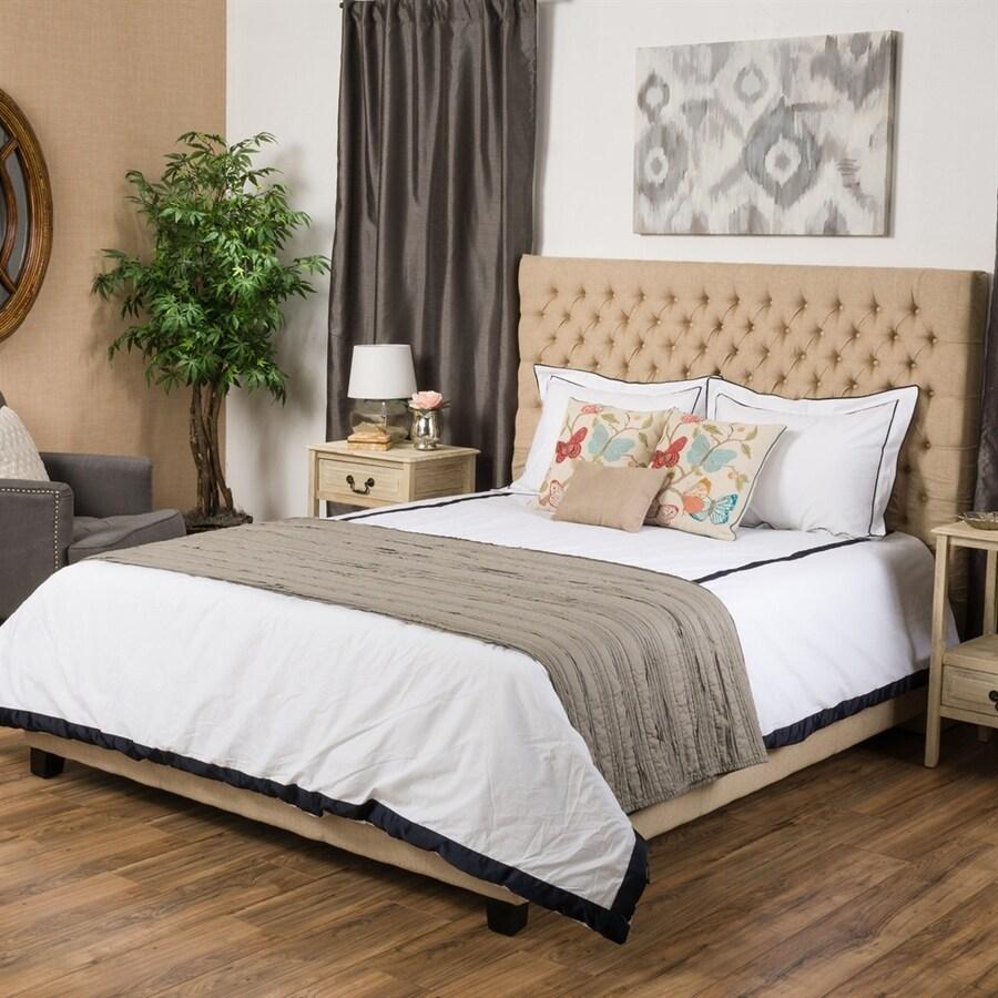 Best Selling Home Decor Jezebel Dark Beige Queen Upholstered Bed