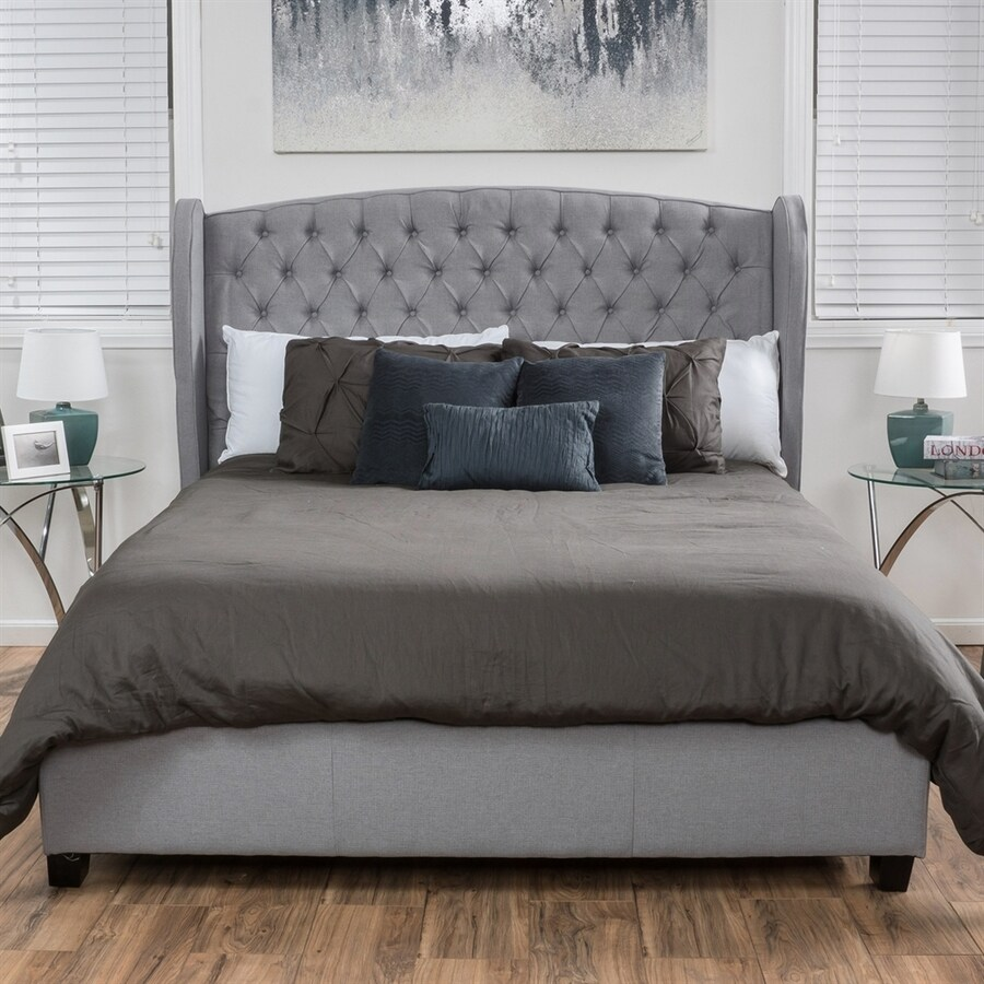 Best Selling Home Decor Alberta Silver Queen Upholstered Bed