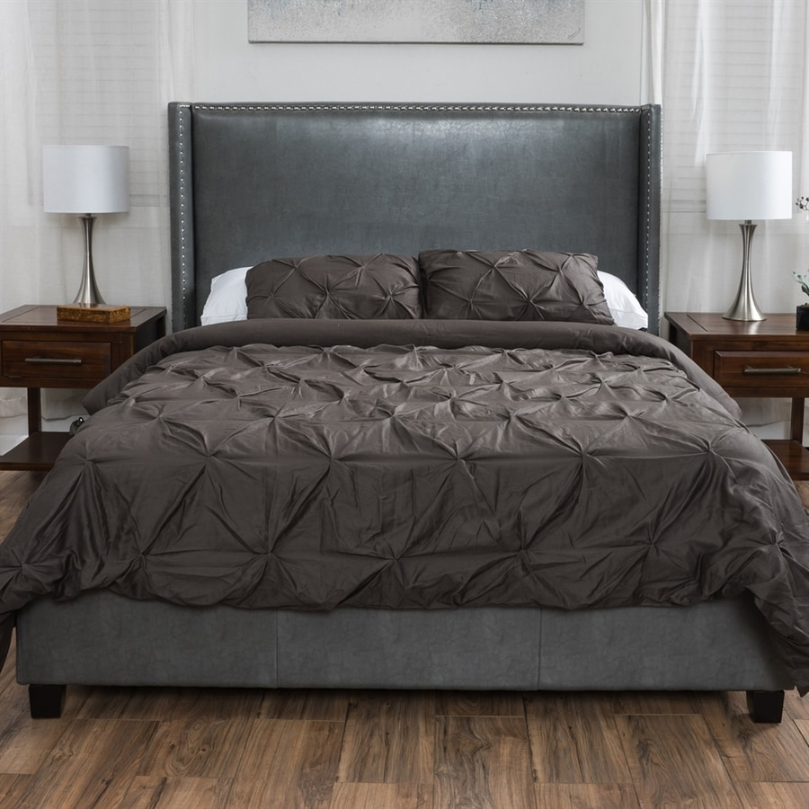 Best Selling Home Decor Amory Dark Grey King Upholstered Bed