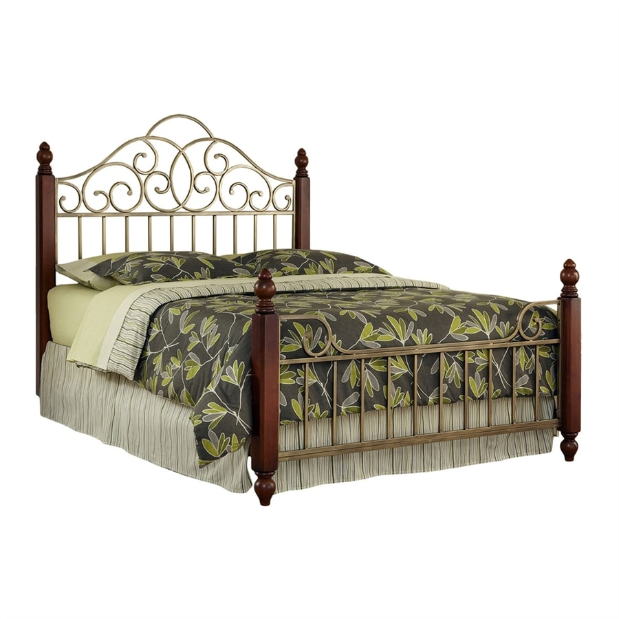 Home Styles St Ives Cinnamon Cherry/Aged Gold Queen Panel Bed
