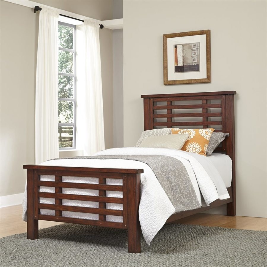 Home Styles Cabin Creek Distressed Chestnut Twin Panel Bed