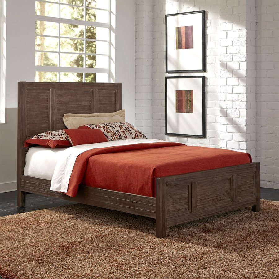 Home Styles Barnside Aged Barnside Queen Panel Bed